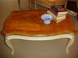 Hollywood Regency Henredon 2 Color Coffee Table Small photo