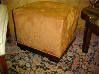 Hollywood Regency Modern Pouffe Bench Stool Suede Cool photo