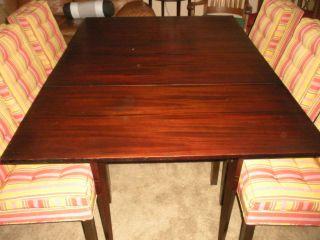 Antique Mahogany Dining Table Modern Design Drop Leaf Solid Gate Leg photo