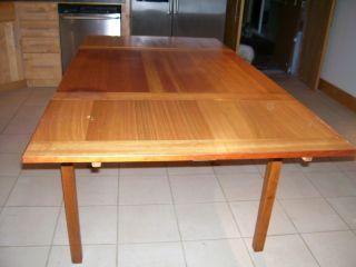 Midcentury Danish Modern Mobler Retracting Teakwood Extension Table photo