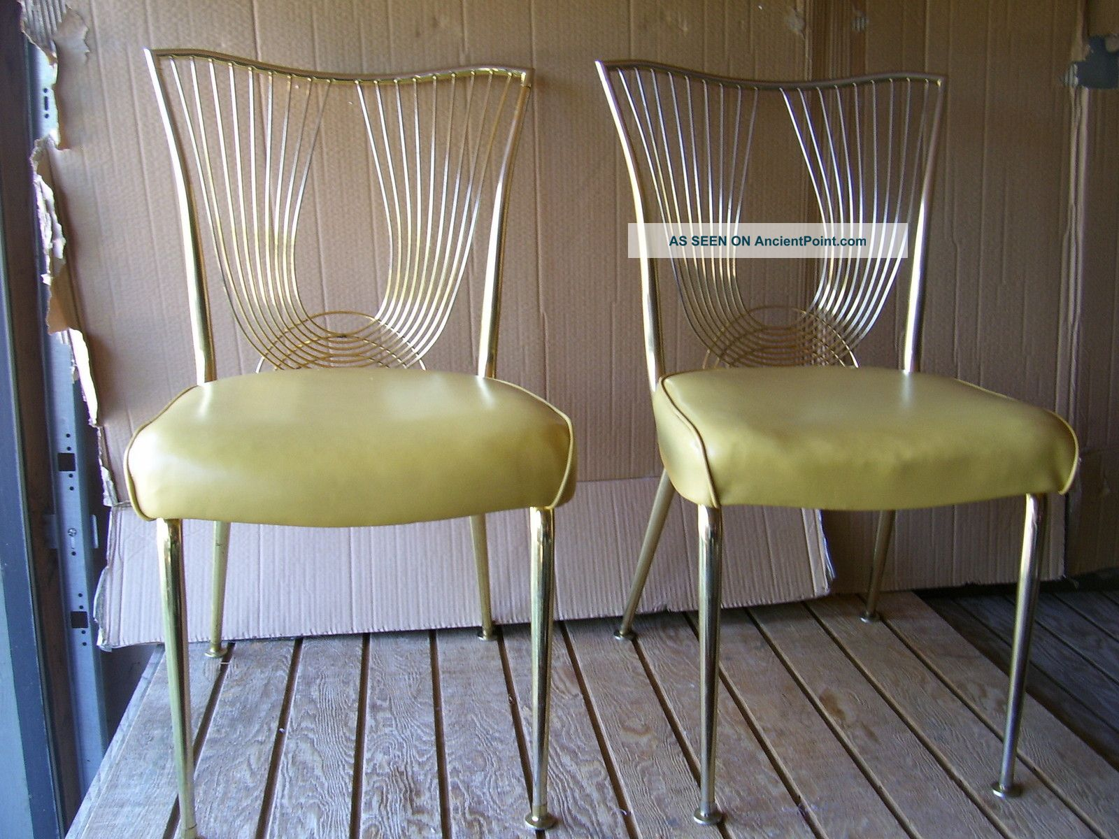 Midcentury Modern Pair Of Virtue Brothers Of California Retro Dining Chairs Mid-Century Modernism photo