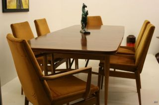 Mid Modern 1958 Rosewood Dining Table & 6 Chairs By Design Class Archie Shine photo