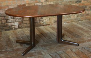 1970s Rosewood Danish Dining Table Dyrlund photo