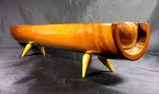 Modernist Japanese Bamboo Bowl/desk Tidy,  1950s photo