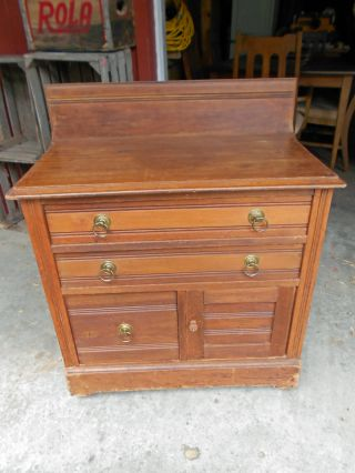 Late 1800 ' S Antique Walnut Wash Stand photo