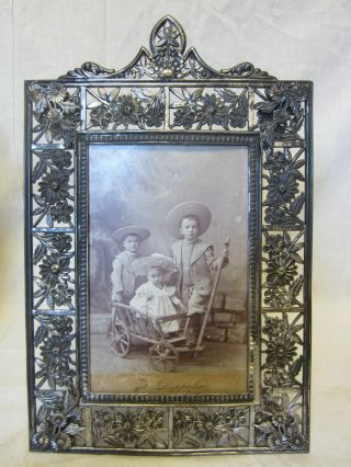 Victorian Ornate Picture Frame - Hartford Silverplate Co - Flowers photo