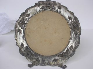 Large Size Antique True Victorian Photo Frame Shabby Cottage Roses Silver Chic photo