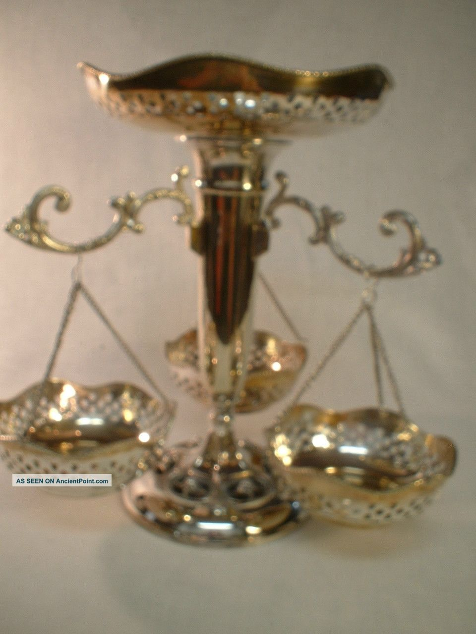 Victorian Silver Plated 8 Piece Epergne Other photo