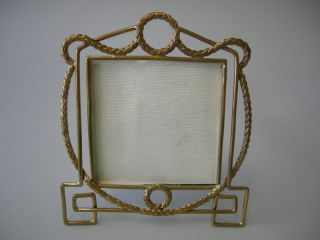 Antique English Brass Nautical Naval Rope Picture Photo Frame C 1910 photo