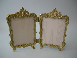 Antique French Double Gilt Dore Bronze Picture Photo Frame C.  1905 photo