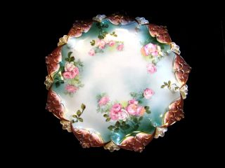 Antique Victorian Display Charger Plate M.  Z.  Moritz Zdekauer Austria 1884 - 1917 photo