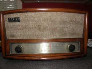 1951 Zenith Model G730w Am / Fm Wood Tube Radio photo