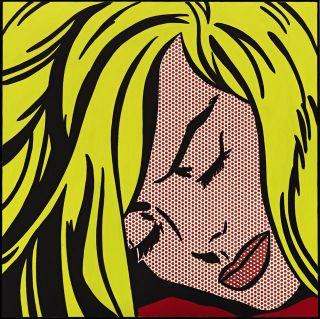 Roy Lichtenstein - Sleeping Girl 26x26 Giclee Canvas Art Print photo