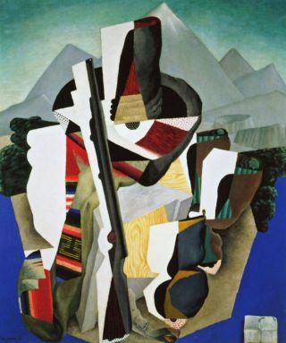 Diego Rivera - Zapatista Landscape The Guerrilla 20x23 Canvas Giclee Art Print photo