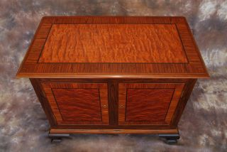 Chippendale Hall Bureau (commode) Stunning Rare Exotic Woods Inlay Work photo