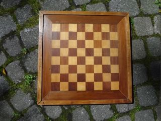 Antique Vintage Game Board With Inlaid Wood photo