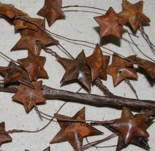 Primitive Rusty Tin Barn Star Stems / Pick 26