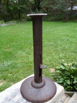 Antique Primitive Hogscraper Candlestick photo