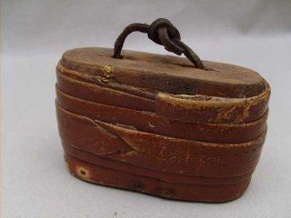 Antique Swedish Stash Snuff Birch Wood Box Sweden photo