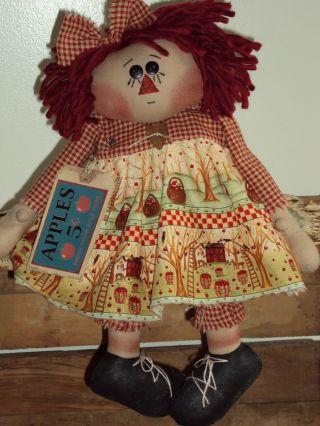 Primitive Raggedy Ann Fall Apple Annie photo