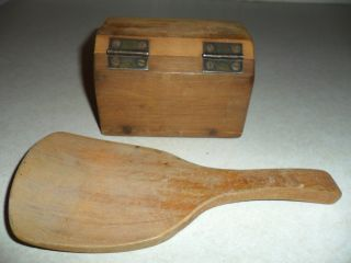 Vintage Butter Mold With Wooden Spatula photo