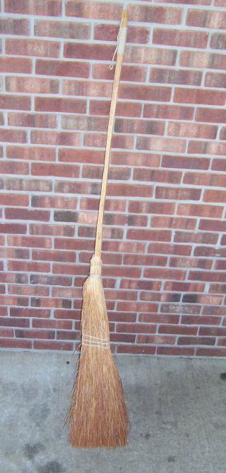 Old Primitive Long Handle Broom Antique? photo