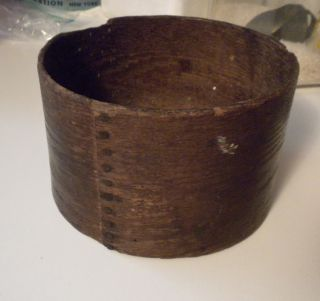 Antique 19th C.  2 Quart Wooden Grain Measure photo