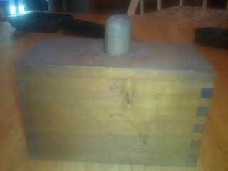 Old Primitive Wood Butter Mold Press Box photo