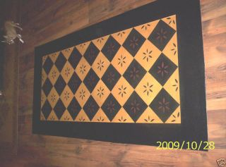 Floorcloth Floor Cloth Area Rug 36x56 Primitive Folkart photo