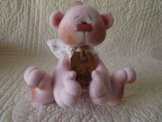 Primitive Sweetie Pink Bear Ornie Doll Made By Patti ' S Ratties photo