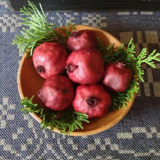 Primitive Dried Natural Pomegranates photo