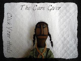 Black Primitive Doll The Care Giver Ooak (click Your Heels) photo
