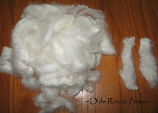 Lustrous White Sheep ' S Wool Absolutely Gorgeous - - - Perfect Doll Hair For Santa photo