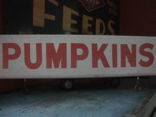 Awesome Double - Sided Pumpkins Farm Stand Trade Sign Aafa photo