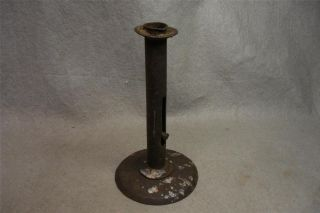 Antique Primitive Hog Scraper Push Up Candle Holder 7 1/2 Inch photo