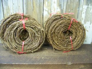 4 Rolls 15 ' (60 ' Feet Total) Primitive Grapevine Twig Garland Grape Vine photo