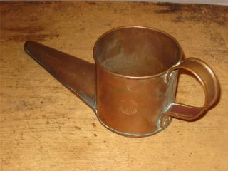 An Extremely Rare Late 18th C Copper Ale Shoe Beer Or Flip Warmer photo