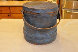 Firkin. . .  In Blue Paint. .  Ca:1880s photo