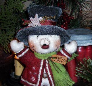 Primitive Frosty Snowflake Christmas Ornie 8