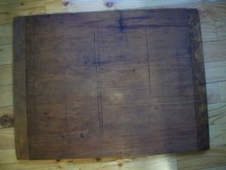 Antique Wooden Cutting Board / Dough Board Maine Farm Find photo