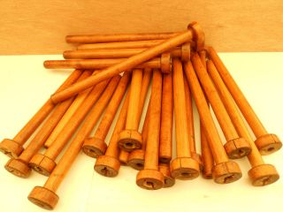 25 Medium Tube Wooden Bobbins (104) photo