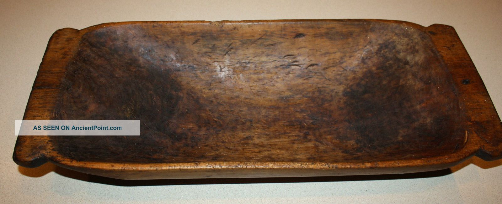 Antique Primitive Carved Wooden Dough Bowl; Old Hand - Hewn Country ...