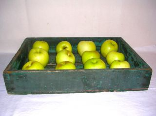 Aafa - Late 19th C. ,  Apple Tray In Green Paint photo