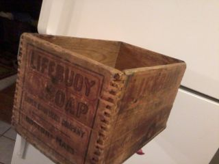 Vintage Lifebuoy Soap Wooden Box Late 1800 ' S Early 1900 ' S photo