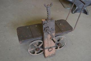Conestoga Wagon Jack Anvil Blacksmith Forge Tk photo