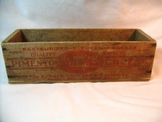 Old Country Club Pimento Cheese Box,  5 Lbs Size,  Kroger Co.  Cincinnati,  Ohio photo
