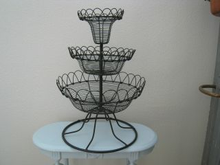 Antique/vintage Large French 3 Tier Stand~store Display~ photo