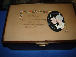 Primitive Jewelery Box W/mother ' Poem photo