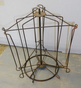 Wire General Store Display Rack For Counter Vintage Antique photo