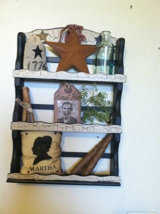 Primitive,  Americana,  Colonial,  Farmhouse Spice Rack Decor photo